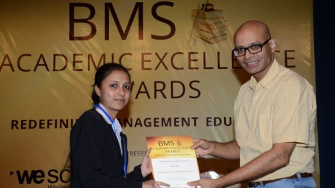 Felicitation of Sneha Modi, S.M. Shetty College TYBMS Sem 5 Topper 2013
