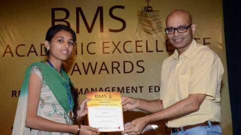 Felicitation of Jyoti Gupta, Birla College TYBMS Sem 5 Topper 2013