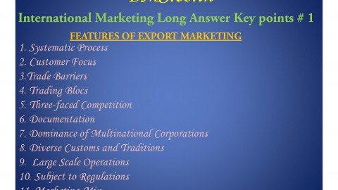 International Marketing Long Answers Keypoints