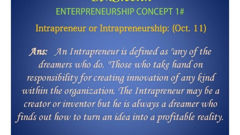 Entrepreneurship Concepts – Last Minute Revision