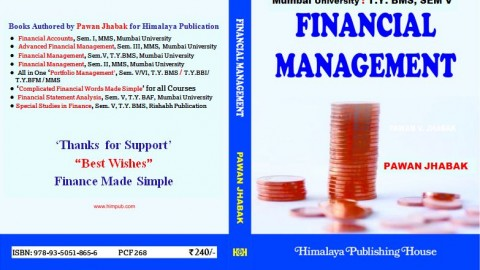 "SPECIAL DISCOUNT – ""Financial Management"" – BMS Sem V – Author ""Prof. Pawan Jhabak"". Himalaya Publication"