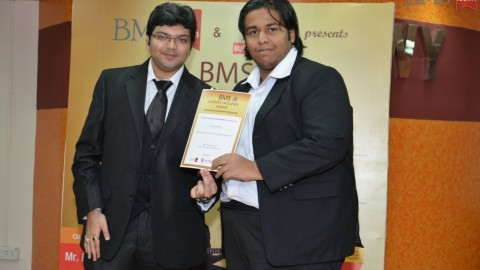 Felicitation of Ben Samrat Mukherji, TYBMS Topper, Alkesh Dinesh Mody Institute