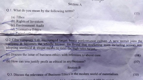 Sterling College TYBMS Sem 5 Prelims Question Papers 2013