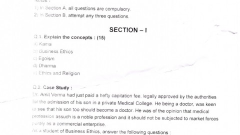 SIES College TYBMS Sem 5 Prelims Question Papers 2013