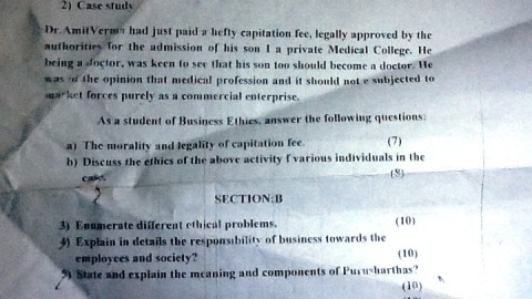 SICES Degree College TYBMS Sem 5 Prelims Question Papers 2013