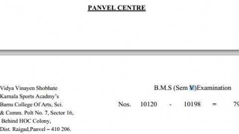 TYBMS Sem 5 Exams 2013 – Panvel Centre for Seat Nos. 10120 to 10198