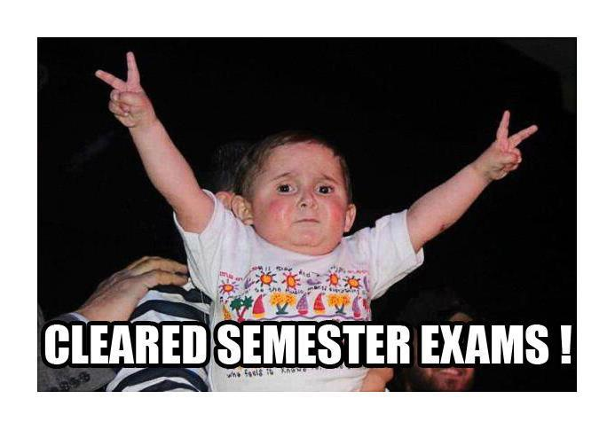 Cleared-semester-Exam