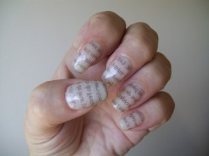 nails-newspaper print