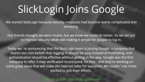 Google Acquires SlickLogin – Here's a Quick Way to Know More about Israeli Startup SlickLogin