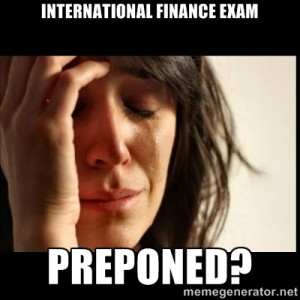 Breaking news for all T.Y.BMS students: Your International Finance paper may be Preponed?