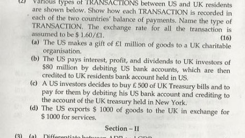 International Finance Mumbai University April 2004 Question Paper
