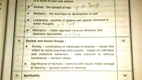 Indian Management Thoughts & Practices Important Chapters 2014