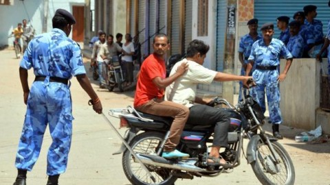 Curfew in Hyderabad on the eve of National Lok Sabha Election 2014 Results