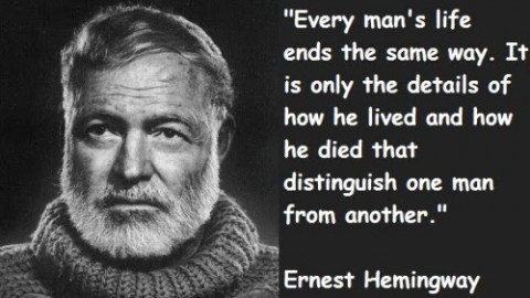 10 Quotes Of 'Ernest Hemingway'