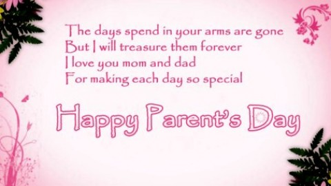 Happy Parents Day 2014 Wishes Card, Greetings Card 2014