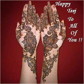 English Happy Haritalika Teej SMS Status Messages Quotes 2014