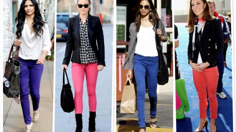 10 Cool New Refreshing Ways to Style Colored Jeans