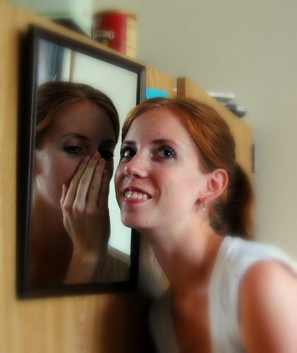 talk to yourself in the mirror