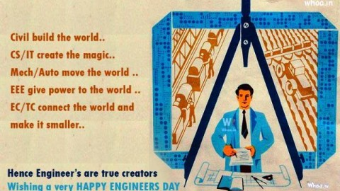 Latest SMS, Wallpapers : Happy Engineer's Day / Engineers Day / Engineer Day 15th September 2014