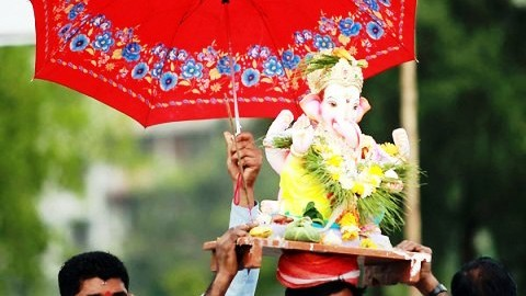 Ganpati Bappa Morya Wishes Wallpapers Images | Anant Chaturdashi 2014