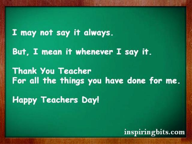 Happy Teacher's Day 2014 140 Words SMS, Quotes, Status, Messages for Mobile in English