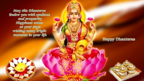 Happy Dhanteras – Laxmiji HD Wallpapers, Picutres, Images Free Download