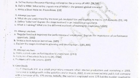Human Resource Management Prelims Question Paper I – Navigator Tutorials