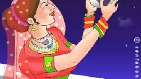 Karwa Chauth 2014 Mobile SMS in English / Hindi To Share With Wife / Husband / Gf / Bf