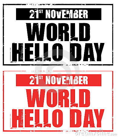 Happy World Hello Day 2014 HD Images, Greetings, Wallpapers Free Download