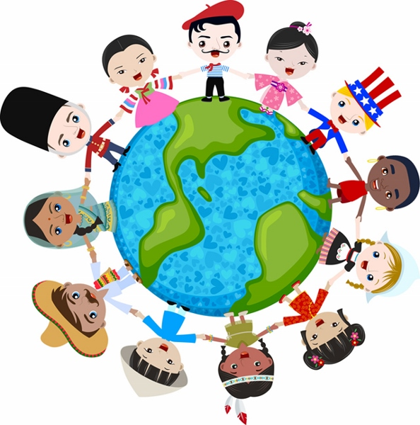 multicultural children on planet earth, cultural diversity