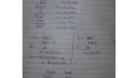 FM 7th November 2014 Exam Solved Answer of Leverages
