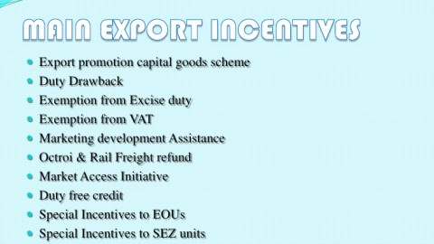 What Is The Meaning of Export Assistance and Incentives?