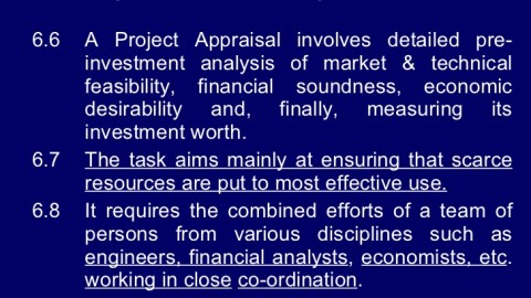 What Is The Meaning of Pre-Investment Appraisal?