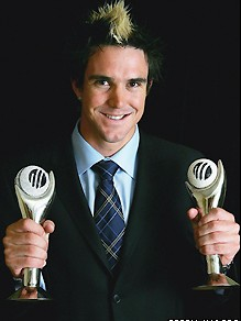 Kevin Pietersen won icc award