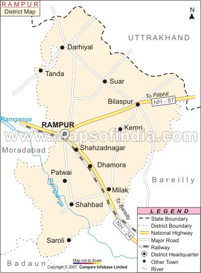 rampur district map