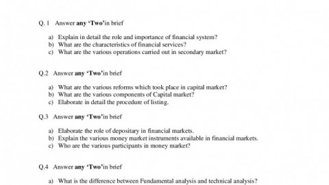 Financial Market Operations Prelims Question Paper 2 – S.K. Somaiya College