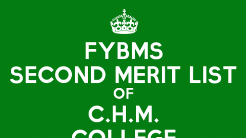 FYBMS Cutoff 2015 Second Merit List of C.H.M. College
