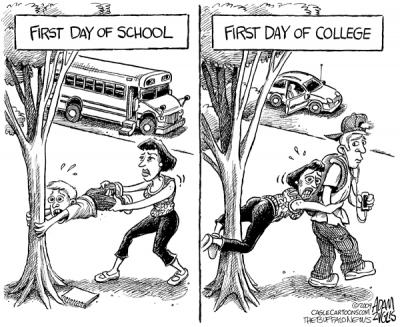 First Day at College Funny Photos  (5)