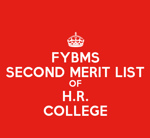 FYBMS Cutoff 2015 Second Merit List of H.R. College