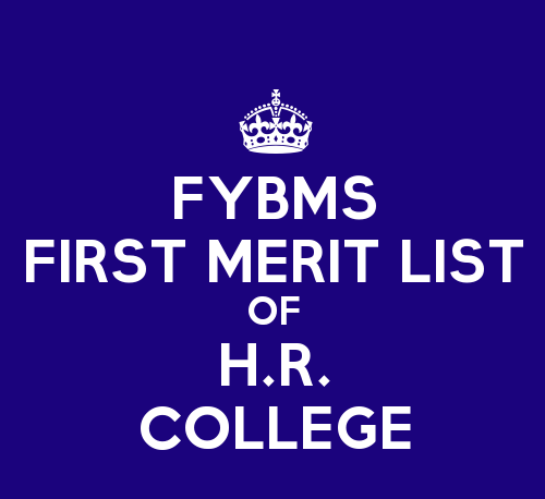 FYBMS Cutoff 2015 First Merit List of H.R. College