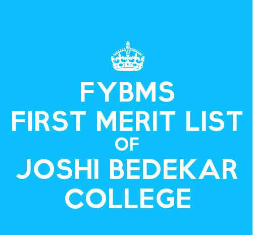 FYBMS Cutoff 2015 First Merit List of Joshi Bedekar College