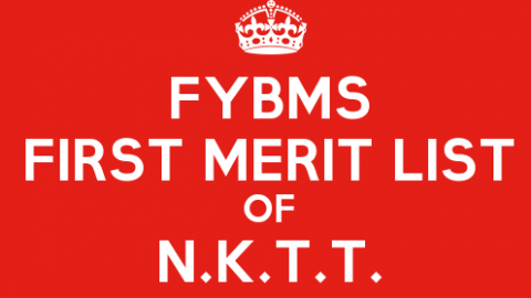 FYBMS Cutoff 2015 First Merit List of N.K.T. Thanawala College