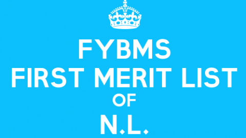 FYBMS Cutoff 2015 First Merit List of Nagindas Khandwala College