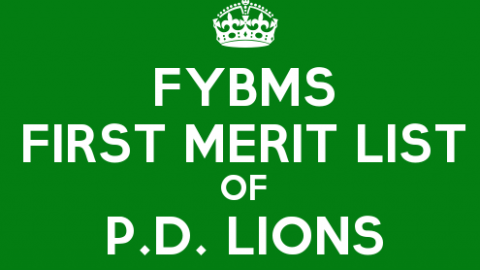 FYBMS Cutoff 2015 First Merit List of Prahladrai Dalmia Lions College