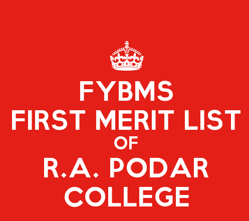 FYBMS Cutoff of podar
