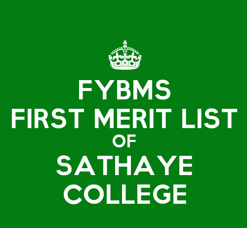 KeepCalmStudio.com-[Crown]-Fybms-First-Merit-List-Of-Sathaye-College