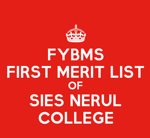 FYBMS Cutoff 2015 First Merit List of SIES College Nerul