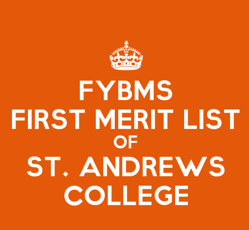 FYBMS Cutoff 2015 First Merit List of St. Andrews College