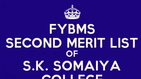 FYBMS Cutoff 2015 Second Merit List of S.K. Somaiya College