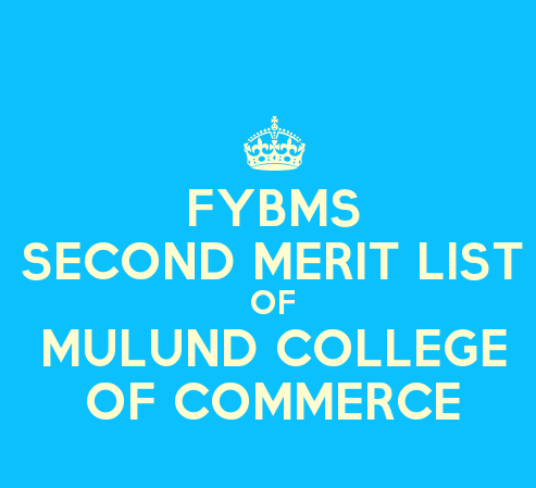 FYBMS Cutoff 2015 Second Merit List of Mulund College of Commerce